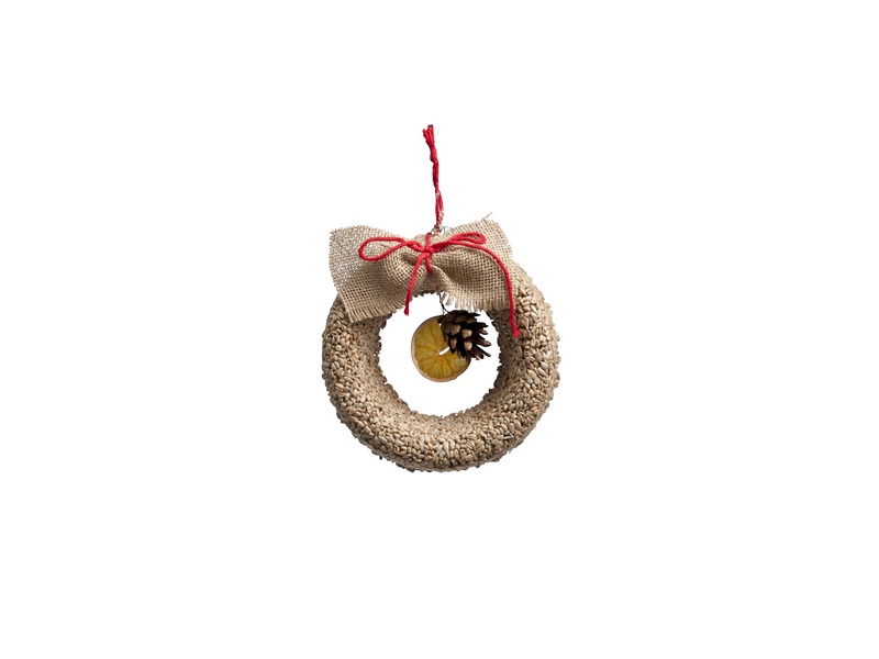 Wreath with sunflower kernels