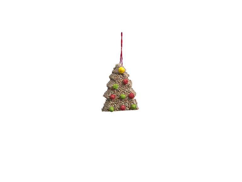 Christmas Tree with sunflower kernels